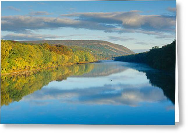 Delaware River In Autumn, Near Port Greeting Card by Panoramic Images