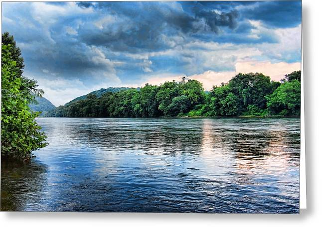 Greeting Card featuring the photograph Delaware River by Michael Dorn
