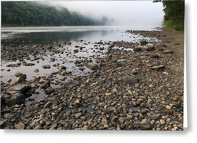 Delaware River Mist Greeting Card by Helen Harris