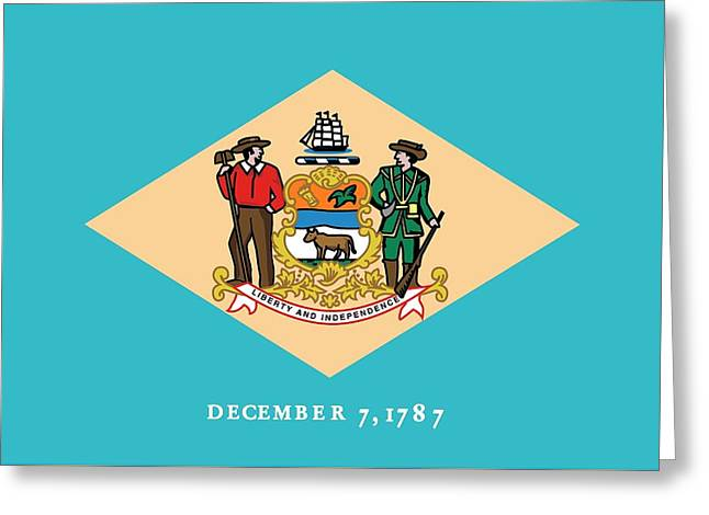 Delaware State Flag Greeting Card by American School