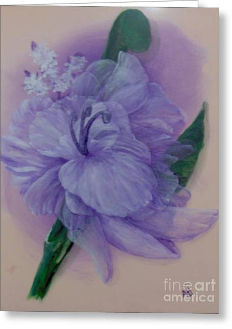 Greeting Card featuring the painting Delicacy by Saundra Johnson