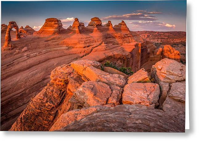 Delicate Arch #2 Greeting Card by Jon Manjeot