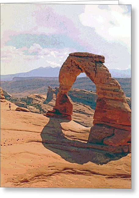 Delicate Arch 3 Greeting Card by Steve Ohlsen