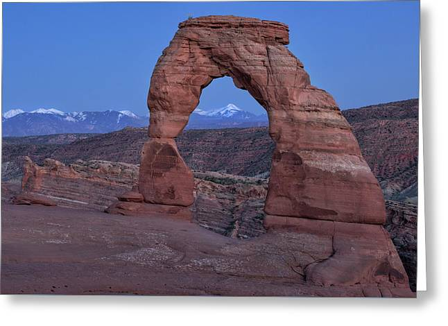 Delicate Arch At Twilight Greeting Card