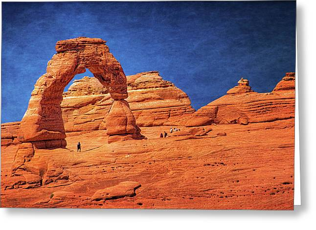 Delicate Arch In Arches Greeting Card by Carolyn Derstine