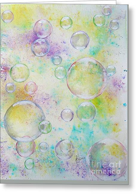 Delicate Bubbles Greeting Card