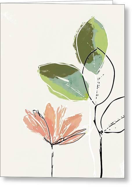 Delicate Flower- Art By Linda Woods Greeting Card
