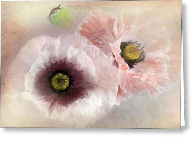 Delicate Pastel Poppies Greeting Card