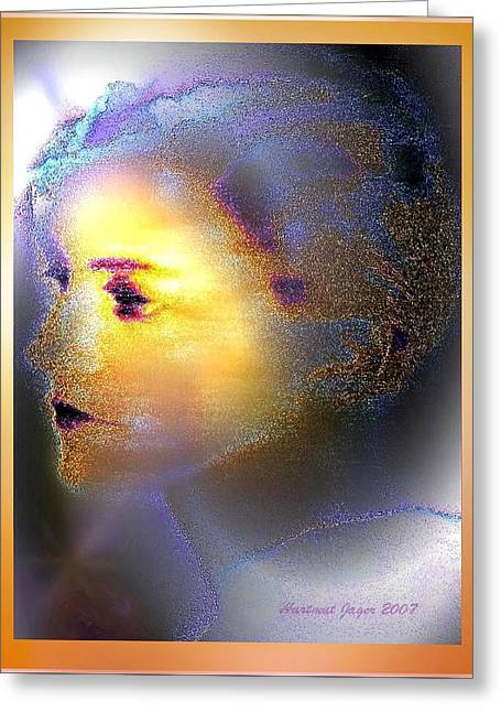 Delicate  Woman Greeting Card