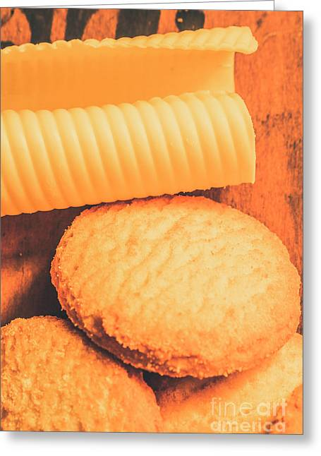 Delicious Cookies With Piece Of Butter Greeting Card by Jorgo Photography - Wall Art Gallery
