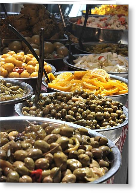 Delicious Olives Greeting Card