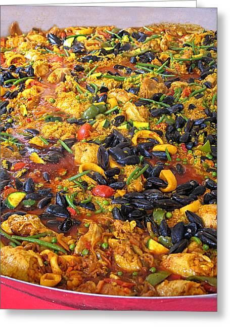 Delicious Paella Greeting Card by Dave Mills