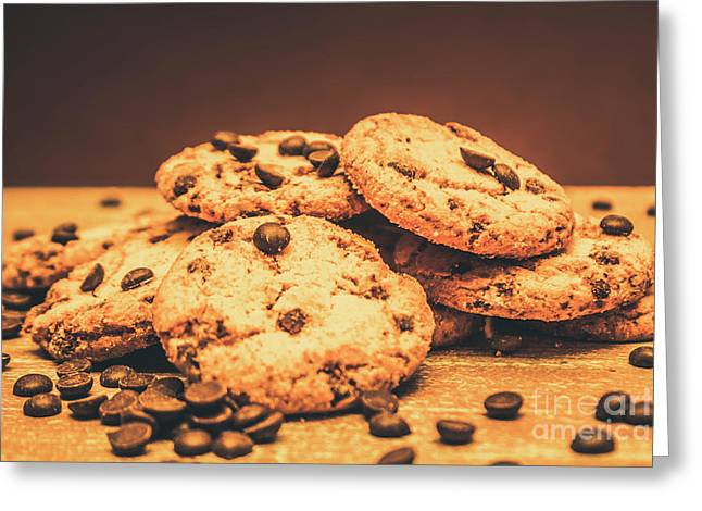 Delicious Sweet Baked Biscuits  Greeting Card