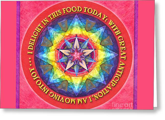 Delight In This Mandala Prayer Greeting Card