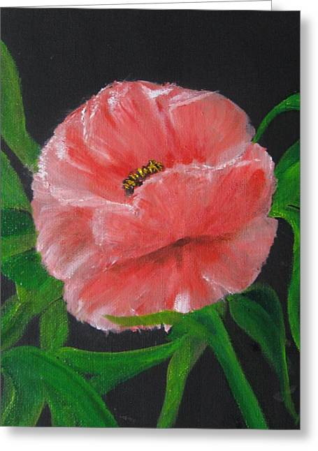 Greeting Card featuring the painting Delight by Trilby Cole