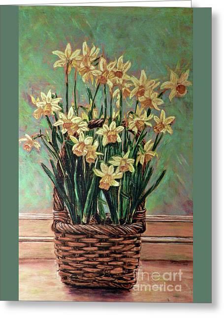 Delightful Daffodils  Greeting Card by Cat Culpepper