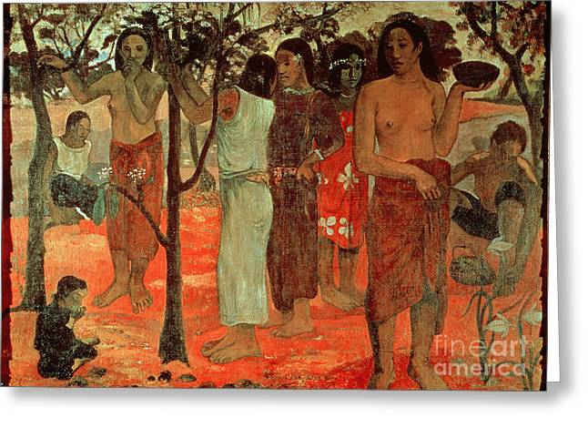 Delightful Days Greeting Card by Paul Gauguin
