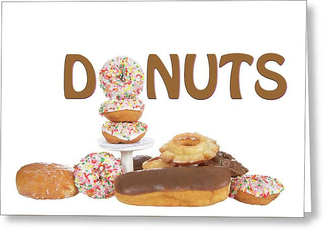 Delightful Donuts Greeting Card by Sheila Fitzgerald