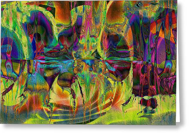 Greeting Card featuring the digital art Deliriously Happy by Kiki Art