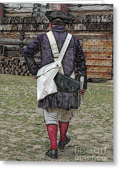 Delivering The Declaration  Greeting Card by Diane E Berry