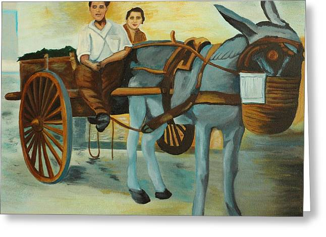Delivery Wagon  Greeting Card by David Bigelow