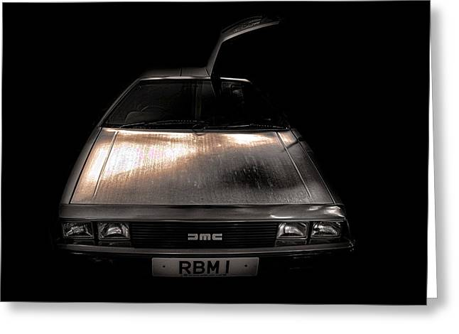Delorean Greeting Card by Martin Newman