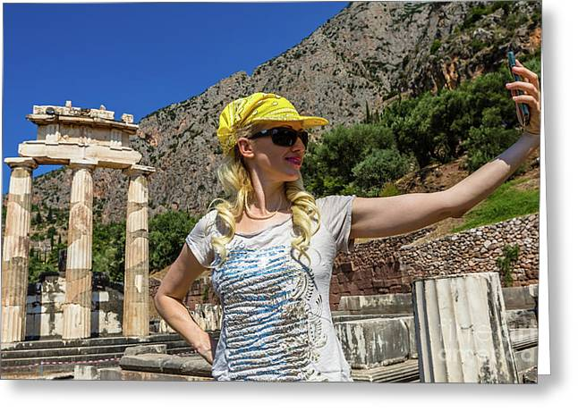 Delphi Tholos Greeting Card