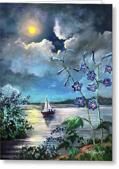 Delphinium Dreams Greeting Card