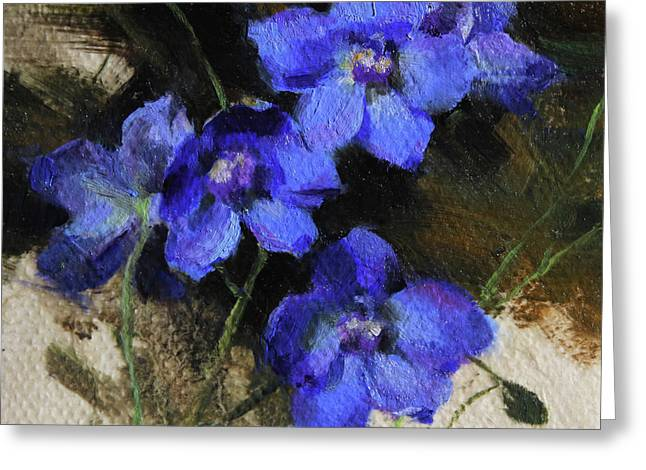 Delphinium I Greeting Card