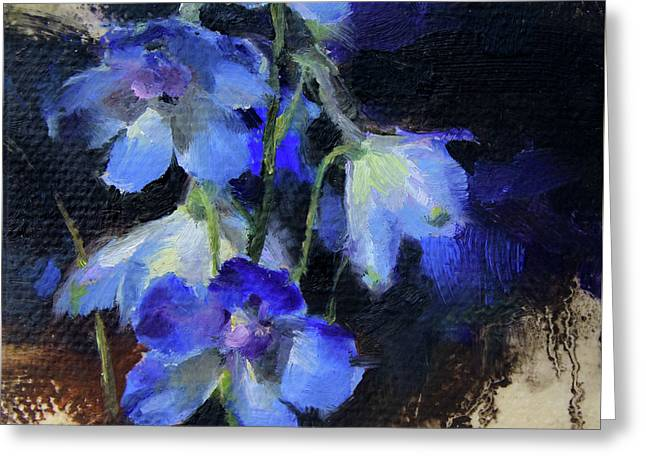 Delphinium II Greeting Card
