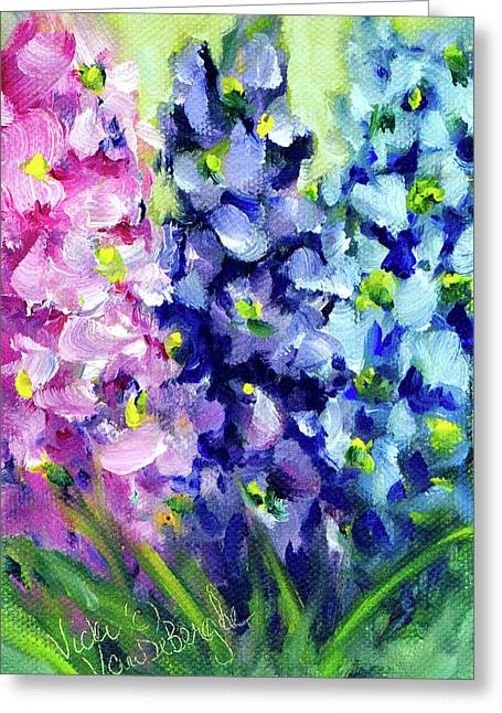 Delphiniums Mixed Greeting Card