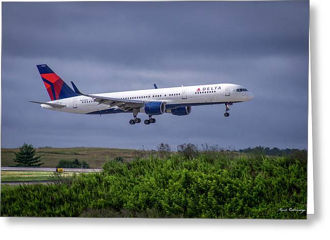 Delta Air Lines 757 Airplane N557nw Art Greeting Card
