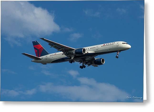 Delta Air Lines 757 Airplane N668dn Greeting Card