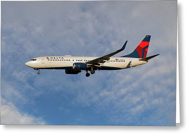 Delta Air Lines Boeing 737-832 Greeting Card