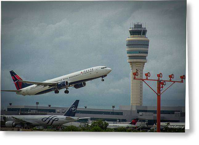 Delta Airlines Airplane N835dn Hartsfield Jackson Atlanta International Airport Art Greeting Card