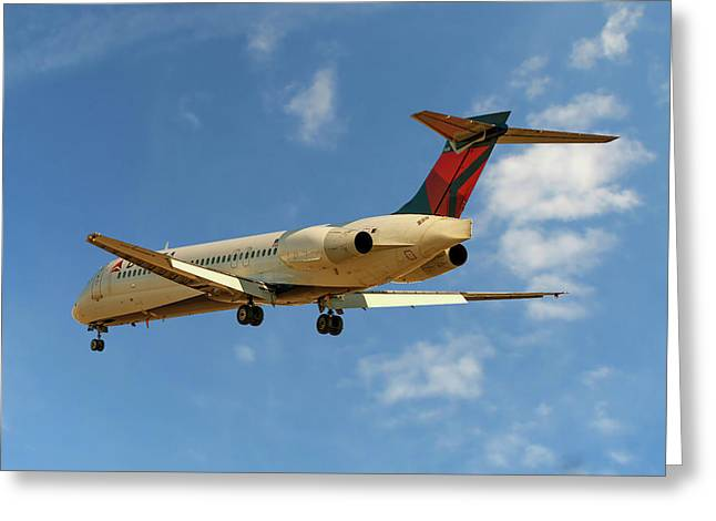 Delta Airlines Boeing 717-200 Greeting Card