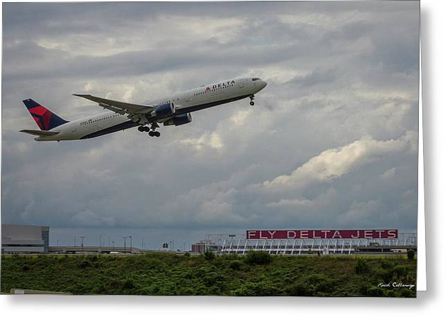 Delta Airlines Jet N836mh Hartsfield Jackson International Airport Art Greeting Card
