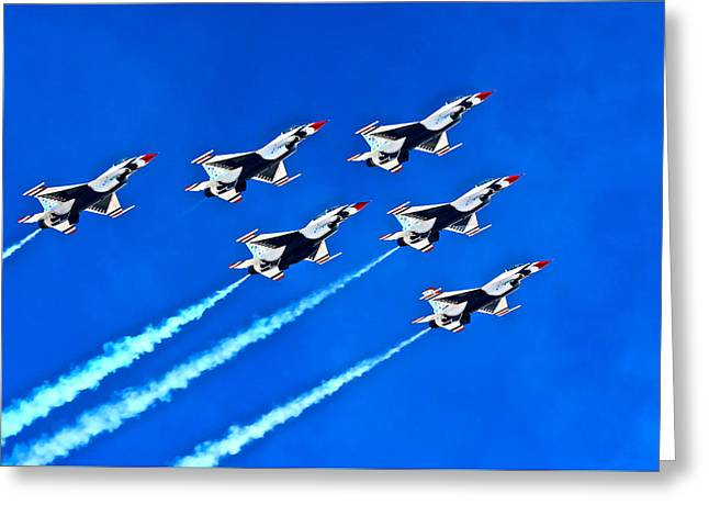 Delta Formation Greeting Card