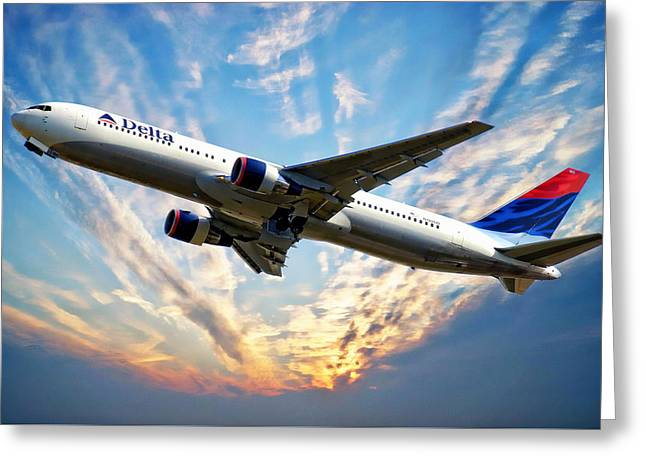 Delta Passenger Plane Greeting Card