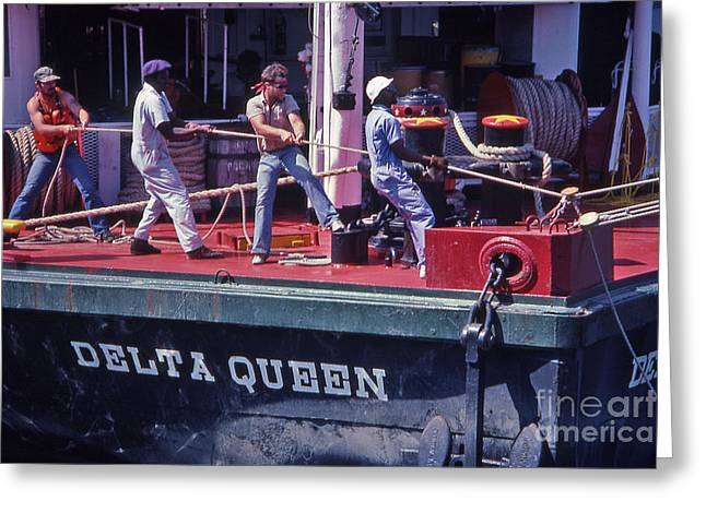 Delta Queen Riverboat Greeting Card by Randy Muir