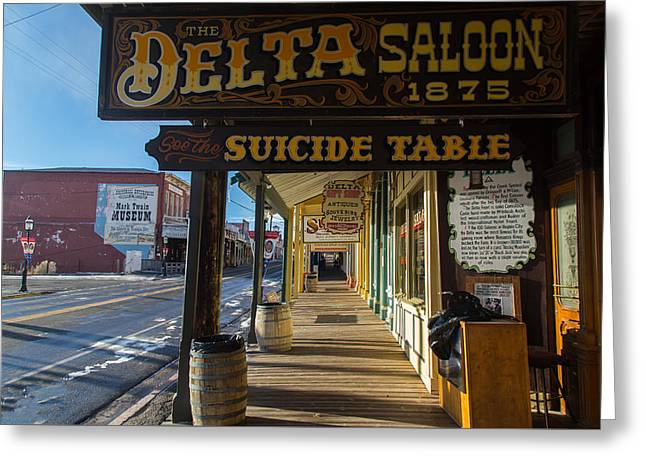Delta Saloon 1875 Greeting Card by Marc Crumpler