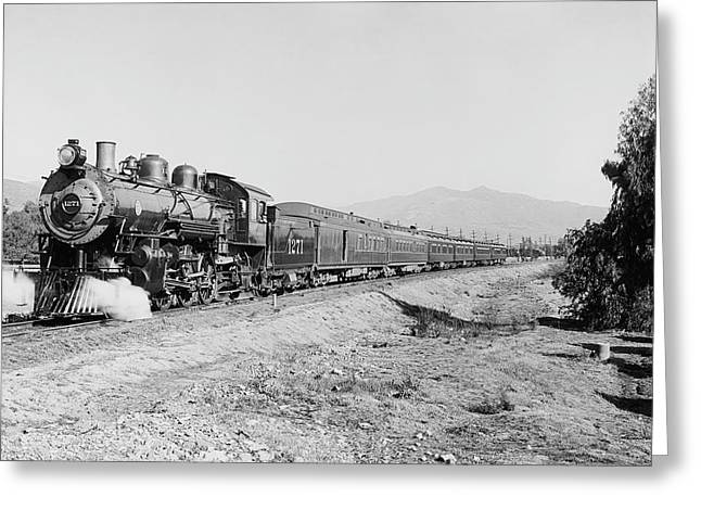 Deluxe Overland Limited Passenger Train Greeting Card