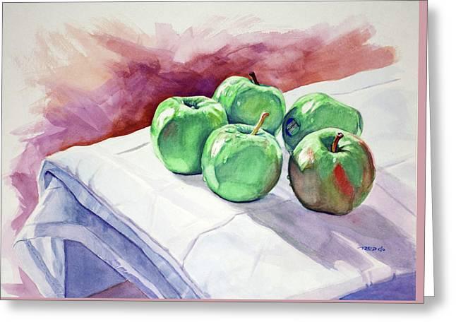 Dem Apples Greeting Card by Christopher Reid