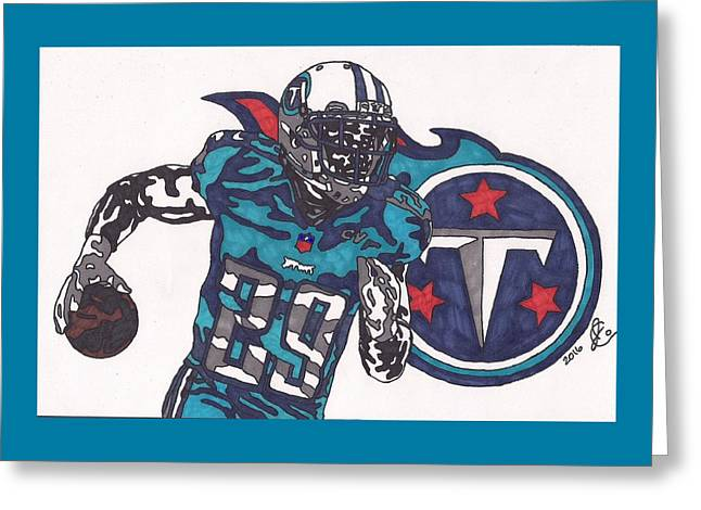 Demarco Murray Titan Greeting Card by Jeremiah Colley