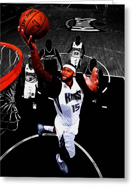 Demarcus Cousins Greeting Card by Brian Reaves