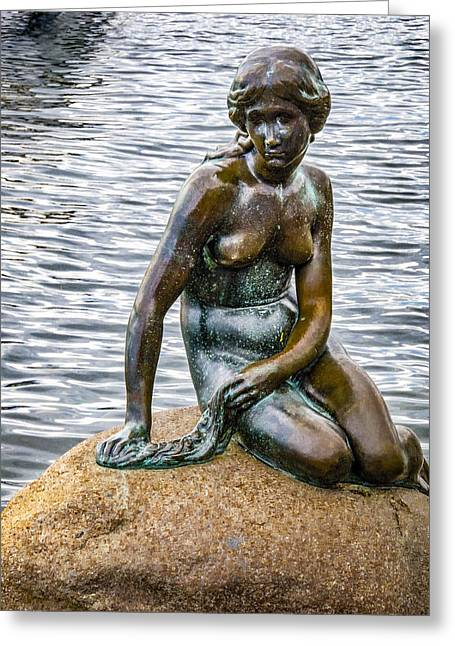 Demarks Mermaid - Copenhagen Greeting Card