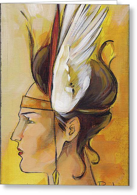 Demi-goddess Left Greeting Card by Jacque Hudson