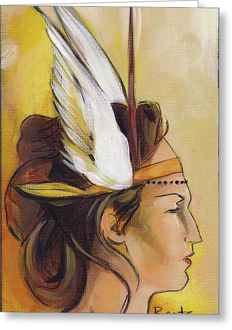 Demi-goddess Right Greeting Card by Jacque Hudson