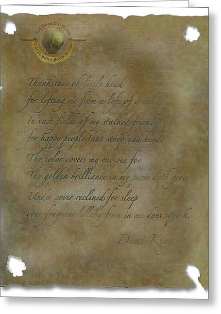 Demi King's Love Poem Greeting Card
