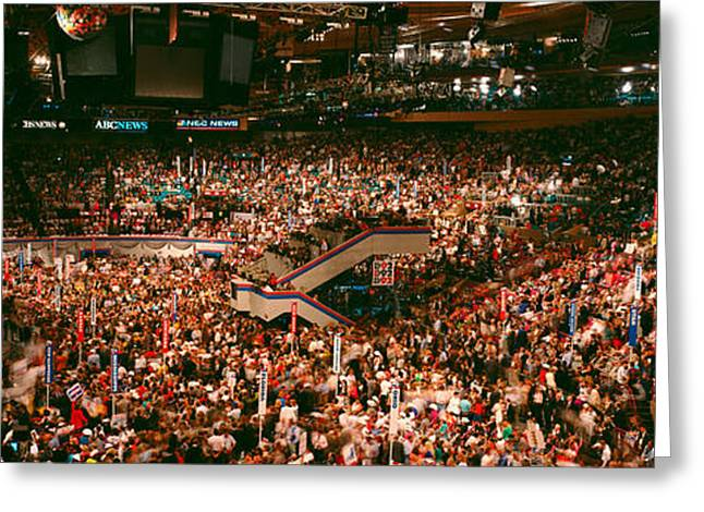 Democratic Convention At Madison Square Greeting Card by Panoramic Images